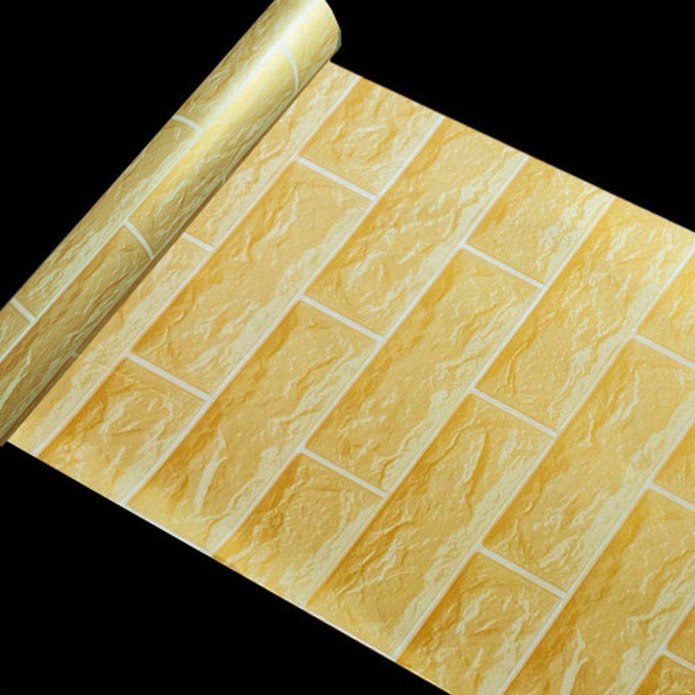 AmazonSmile - SimpleLife4U Yellow Brick Pattern Contact Paper Self ...