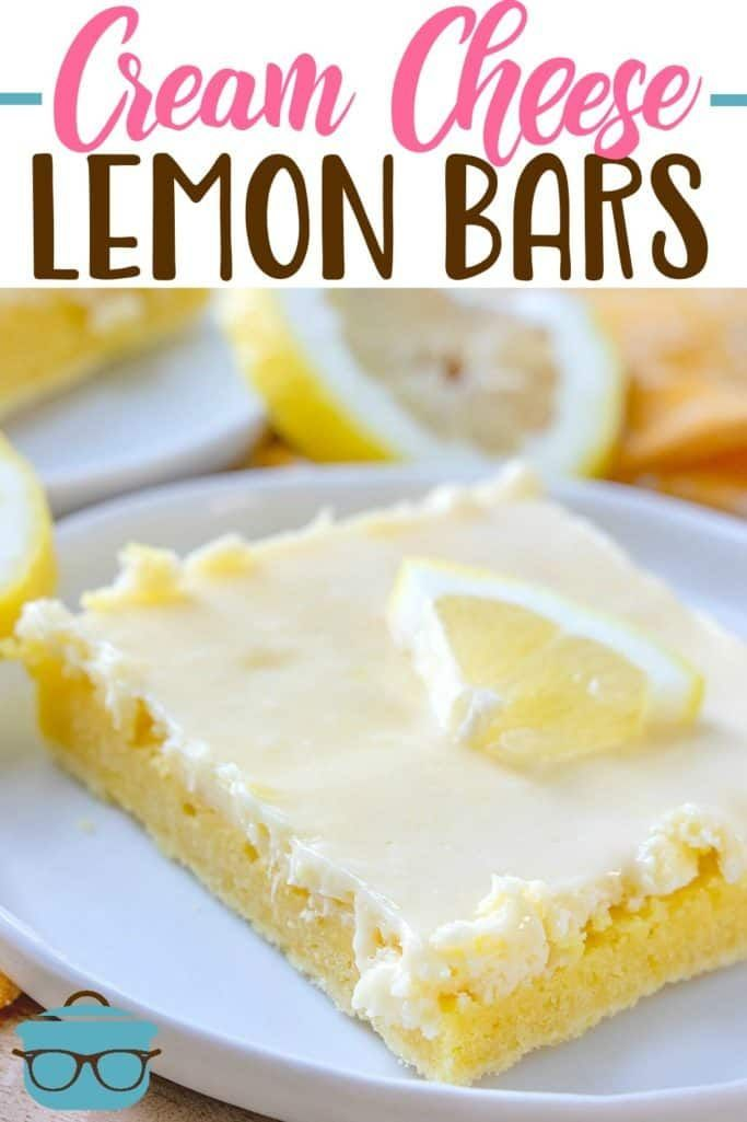 CREAM CHEESE LEMON BARS   - The Country Cook Recipes -  -
