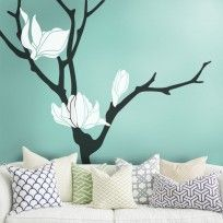 Magnolia Flower Tree Wall Decal