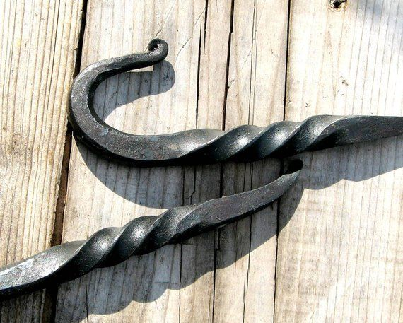One Hand Forged Towel Hook With A Twist By Vintin Item H 103