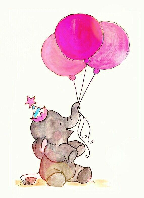 Elefante Aniversario Rosa Bal 245 Es Bexiga Wallpaper
