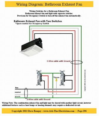 30429541b064075ce42b5636b7fc3f0c wiring diagram, split combo device informational pinterest how to wire a bathroom fan and light on separate switches diagram at bayanpartner.co