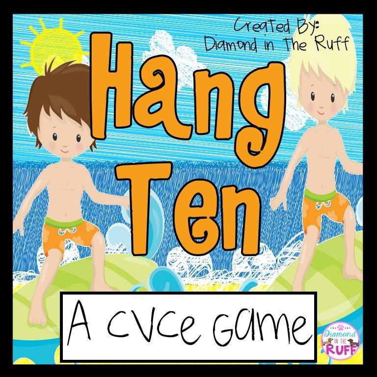 A CVCe Game Hang Ten Hang ten, Cvce words, Games