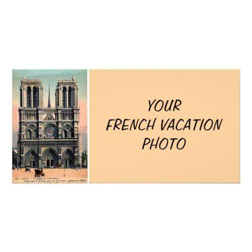 Paris Wedding Save the Date Custom Notre Dame Card