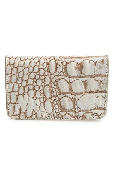 Nixon Mercer Croc Embossed Leather Card Wallet Nordstrom Leather Card Wallet Card Wallet Embossed Leather