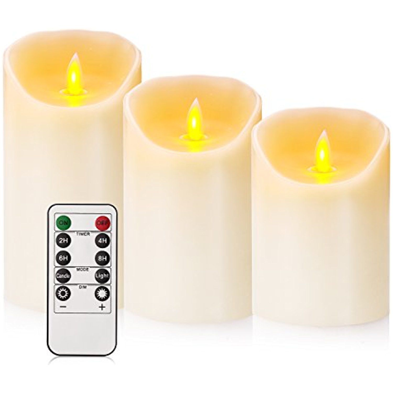 Flameless Battery Candles With Remote Timer Set 4 5 6