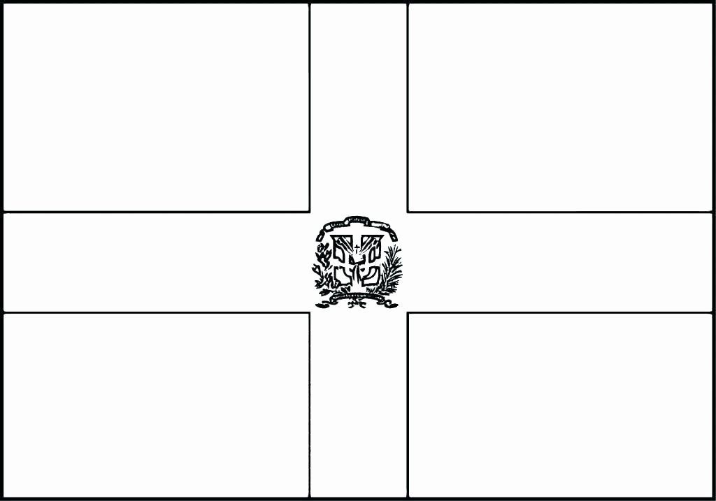 Dominican Republic Flag Coloring Sheet In 2020 Flag Coloring