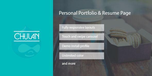 drupal theme portfolio free