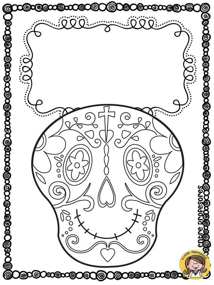 Dibujos Para Colorear El D C3 Ada De Los Muertos 2 Jpg 720 960 Halloween Doodle Halloween School Halloween Crafts