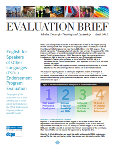 Evaluation Executive Summary From Schultz Center  Evaluation