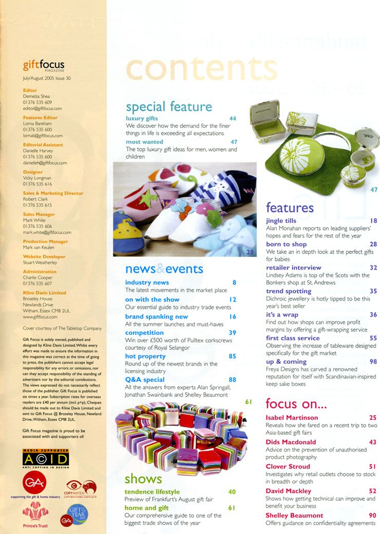 Toc One Pager Design Content Page Magazine Contents Table Of Editorial