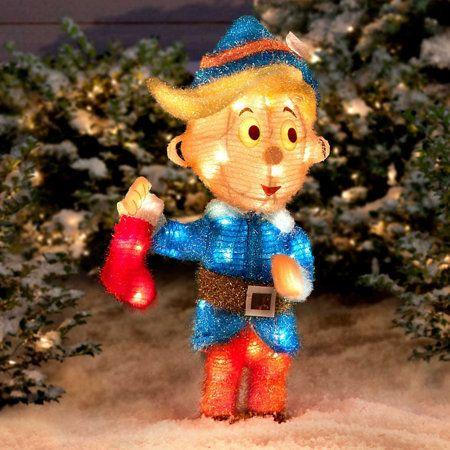 Outdoor Lighted Pre Lit Christmas Rudolph Red Nosed Reindeer