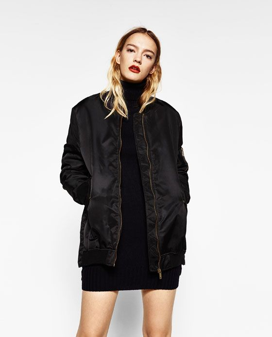 0a498a09af3 Image 1 of OVERSIZED BOMBER JACKET from Zara