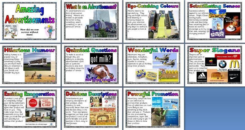 KS2 Literacy Resource - Features of Advertisements Texts ...