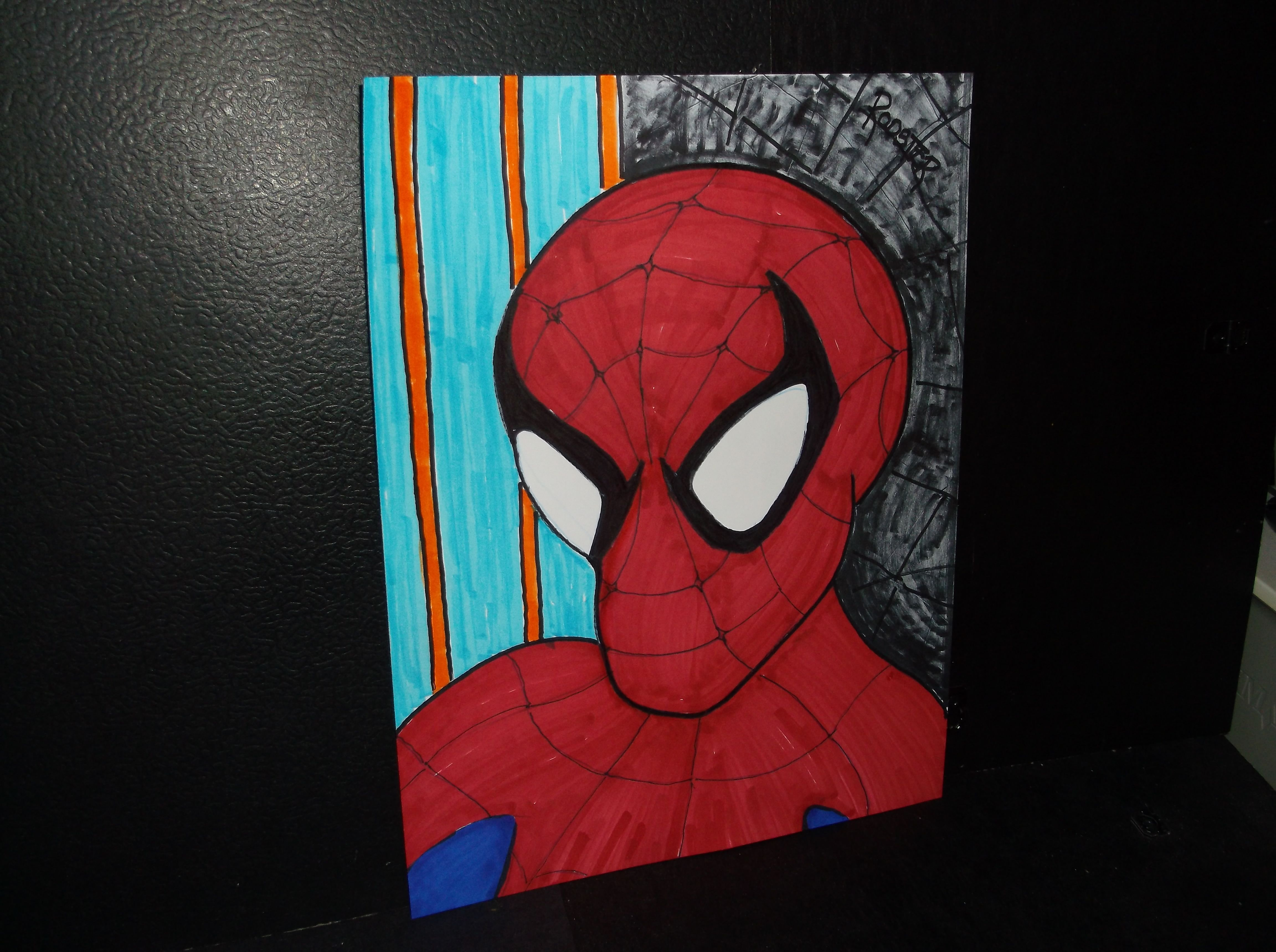 Drawing: Spidey by Rodster 8.5X11 on card stock