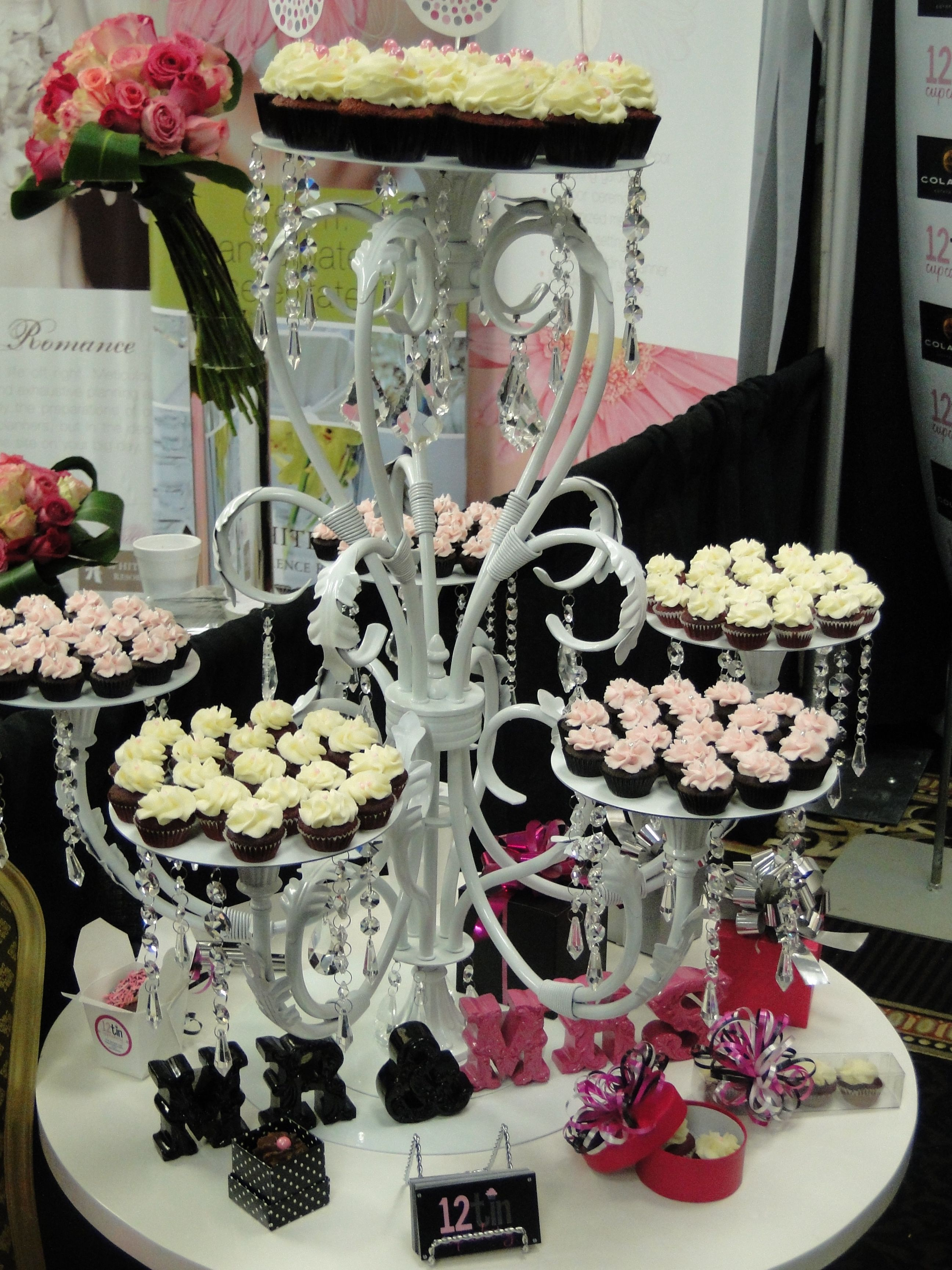 Carleigh duva diy catering stands misc pinterest cupcake discover thousands of images about chandelier cupcake stand arubaitofo Image collections