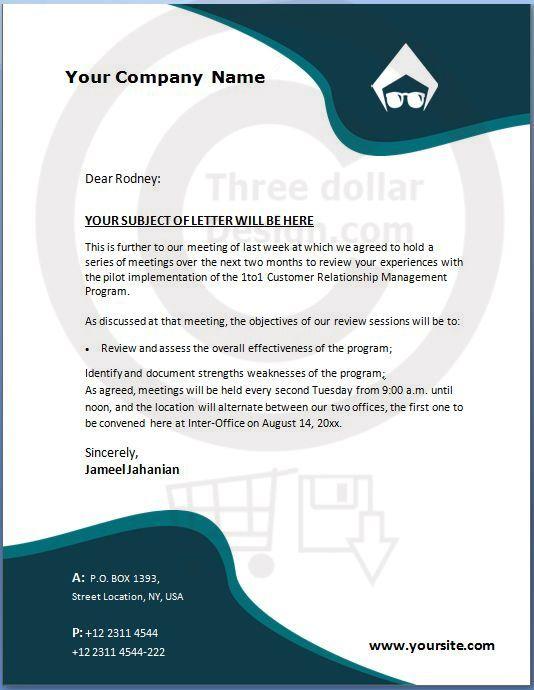 Company Letterhead Word   Letterhead Template