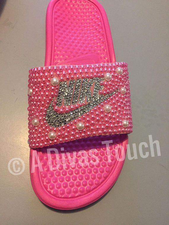 033e5abad2771d Bling Nike Slides w  Swarovski Crystals