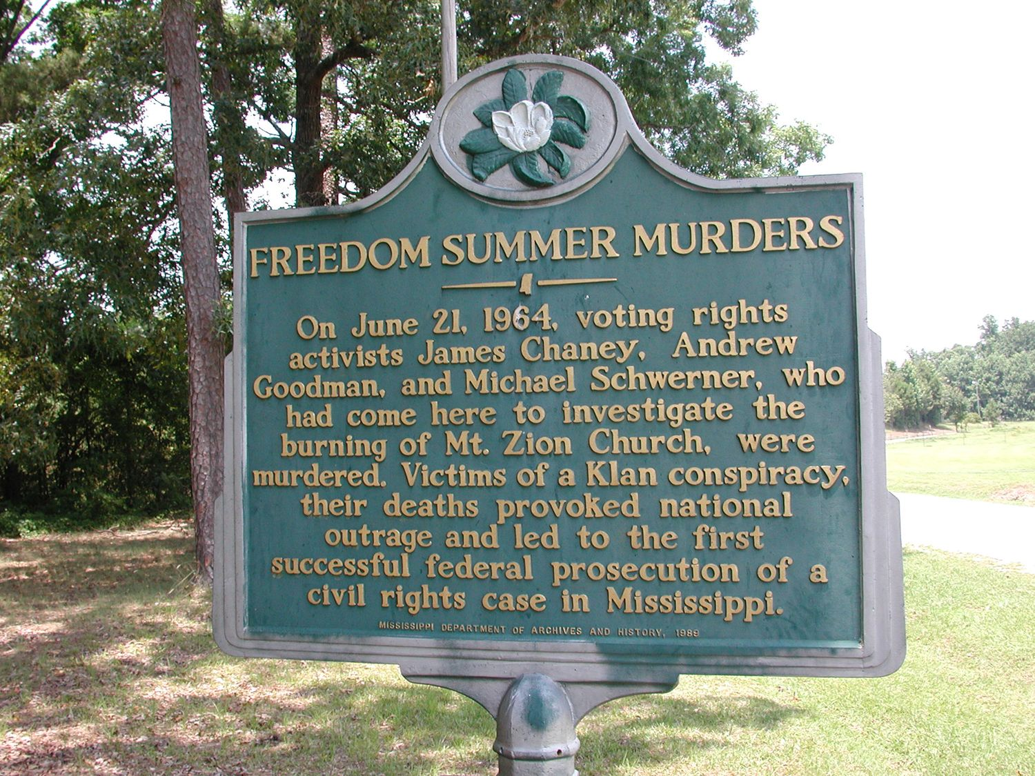 Mississippi Civil Rights Workers Murders Wikipedia The