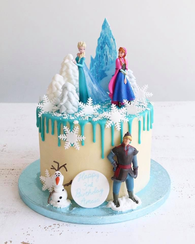 Brilliant Buttercream Drip Cakes Frozen Birthday Party Cake Frozen Themed Funny Birthday Cards Online Elaedamsfinfo