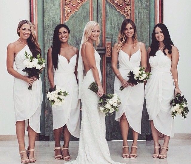 4209fdc4f7 Bridesmaid Inspiration White Dresses Zimmermann Bridal Party
