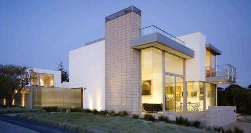 modern house design with eexposed concrete block construction by ehrlich architects - Home Design Construction