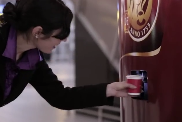 Yawn at this vending machine for free coffee