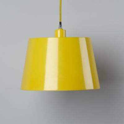 Pop Of Color Pendant Shade Yellow Rectangle Yellow Pendant Light Light Pendant Light