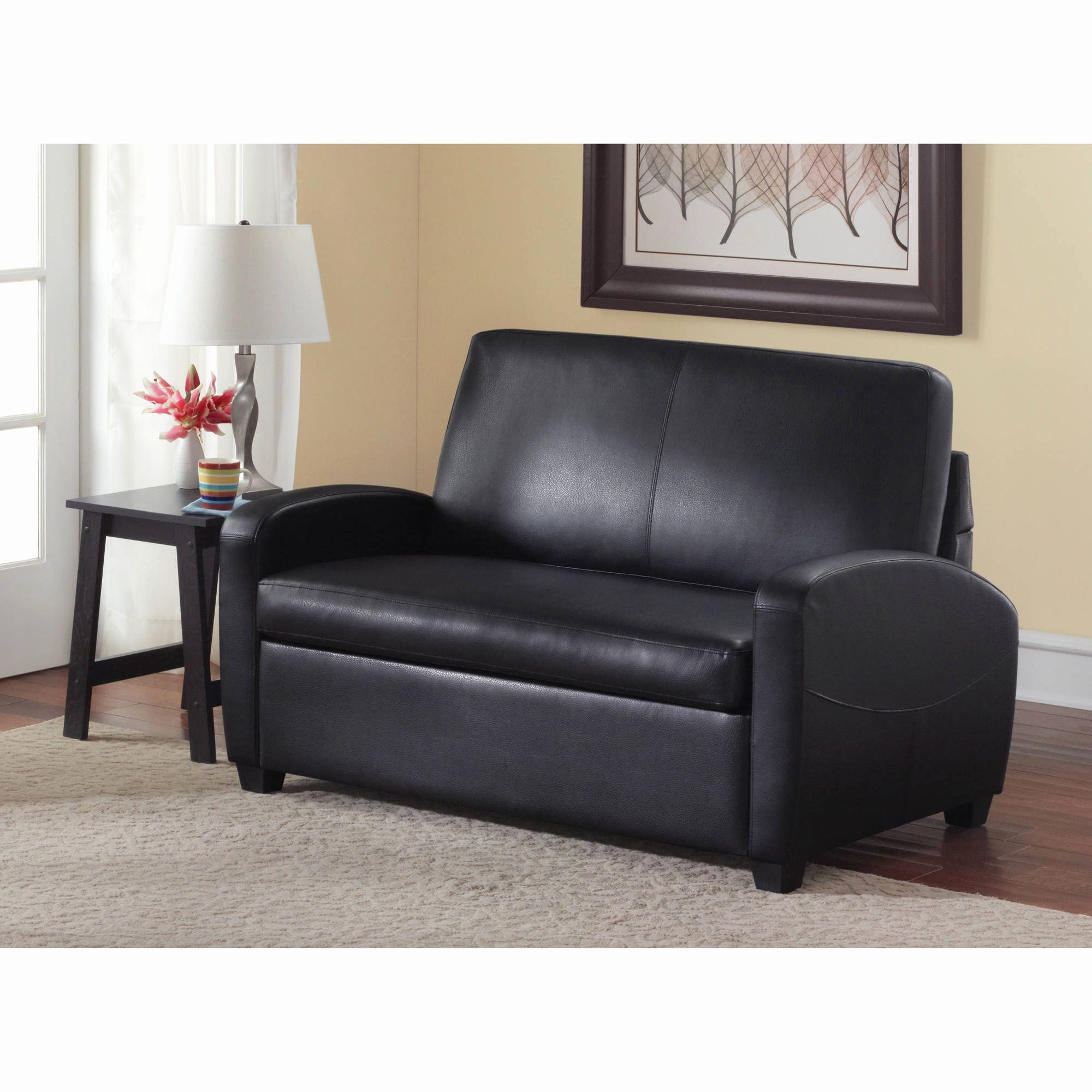 products microfiber couch black itm folding best choice ebay sofa bed futon