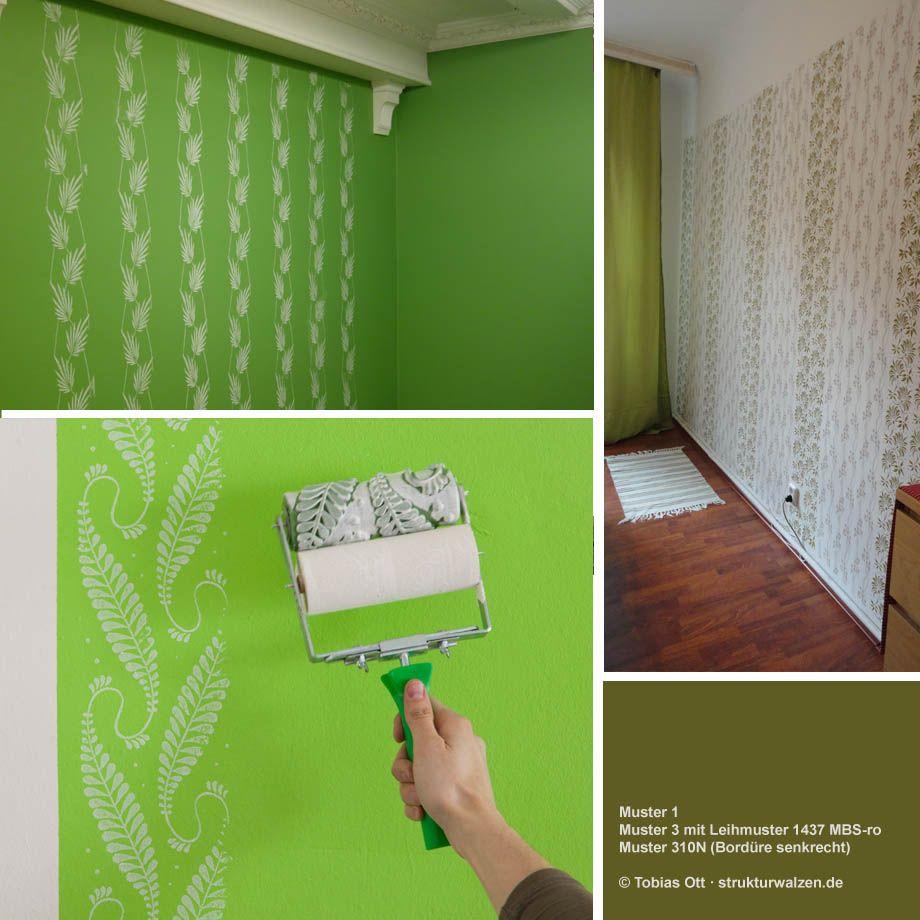 Wandgestaltung In Grün / Grüntönen Mit Gerollten