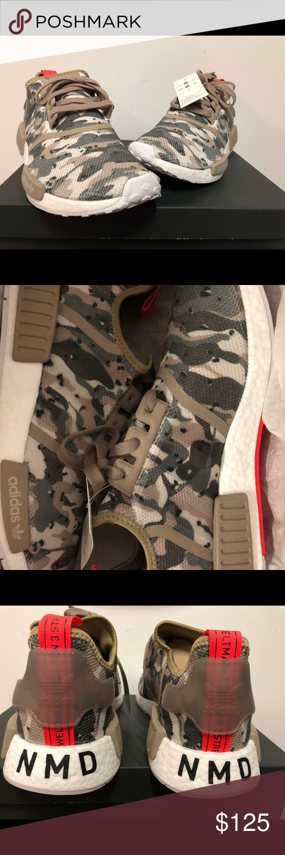 "de5a29663 adidas Originals NMD R1 ""Brown Camo"" G27915 100% brand new and deadstock  Come with original box adidas Shoes Sneakers"