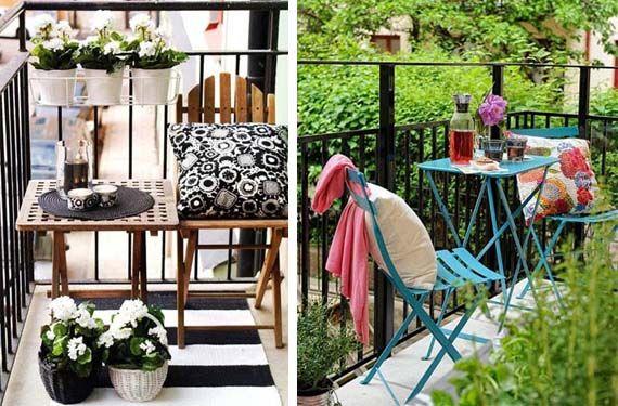 Sacale partido a tu peque o balc n en verano balcones - Decoracion de balcones pequenos ...