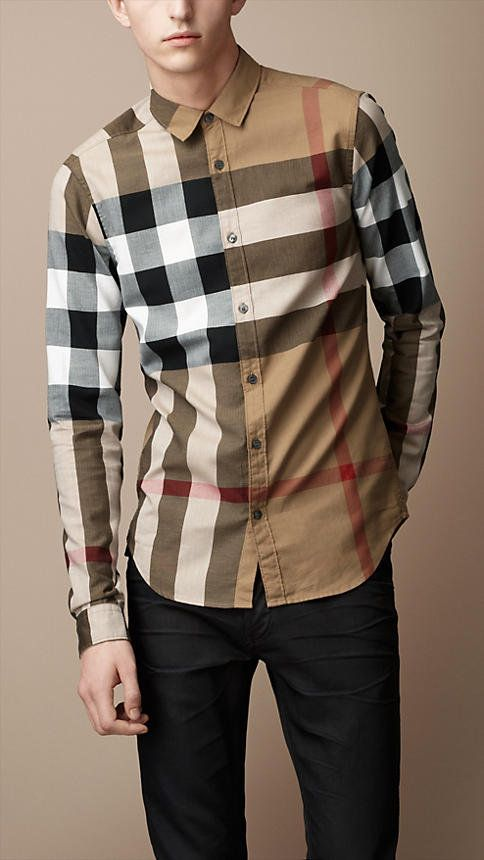 ccbb8207add Exploded Check Cotton Shirt Burberry Shirts For Men