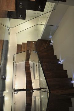 Best Queens Gardens Staircase With Glass Balustrade Modern 640 x 480