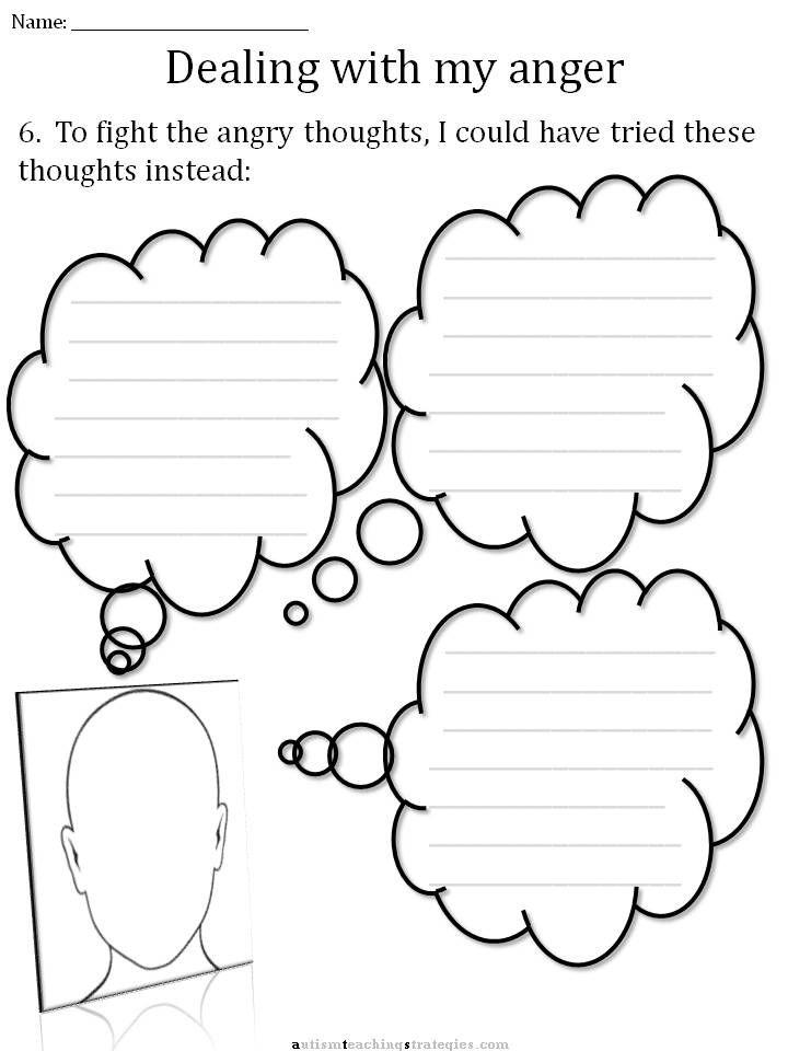 CBT Anger Worksheet, 5 | Cbt worksheets, Cognitive ...