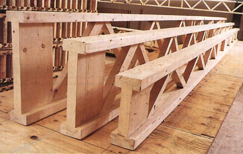 Poutre treillis 100% bois massif avec finger joint
