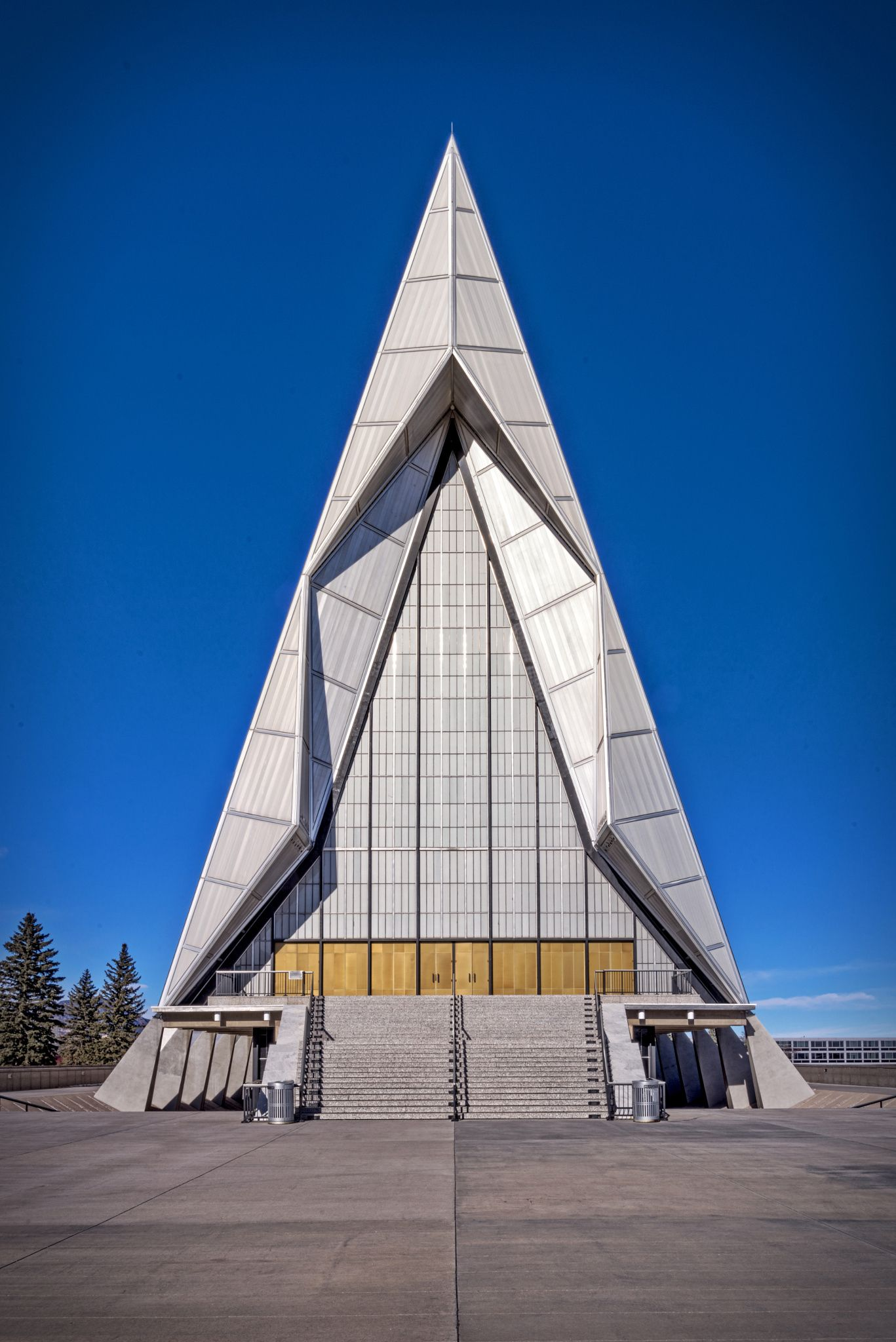 Air Force Academy Chapel Master - A front view of the world famous Air Force Academy Chapel.