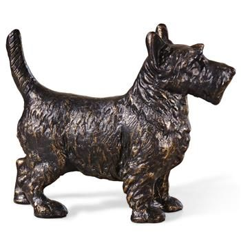 Angus Hollywood Regency Bronze Scottie Sculpture. #kathykuohome
