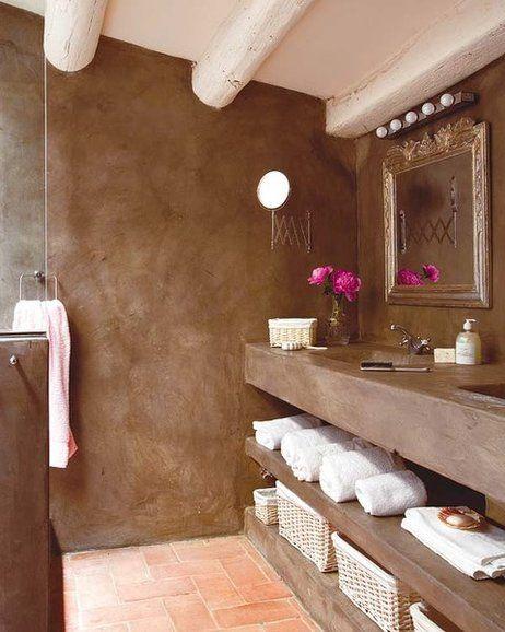 Nuevos revestimientos suelos y paredes Cemento, Baños y Baño - paredes de cemento