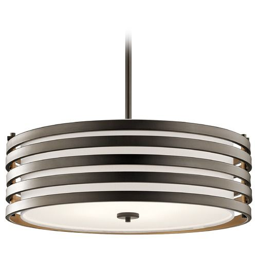 Kichler Lighting Roswell Pendant Light With Drum Shade | 43390OZ | Destination  Lighting