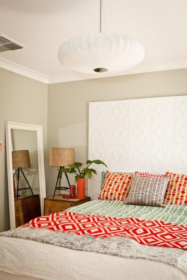 bett kopfteil schöne dekoration farbige bettwäsche Schlafzimmer - schöne schlafzimmer ideen