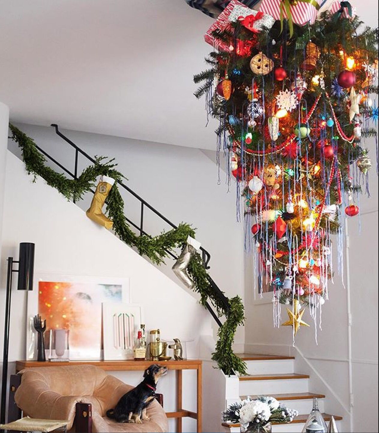 Un sapin a l 39 envers deco noel pinterest sapin idee for Deco idee sapin
