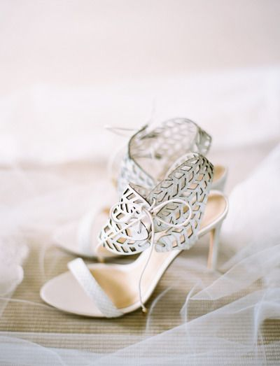 Cut-Out Strappy Heels: http://www.stylemepretty.com/2014/09/29/elegant-gold-blush-southern-wedding/ | Photography: Landon Jacob Productions - http://landonjacob.com/