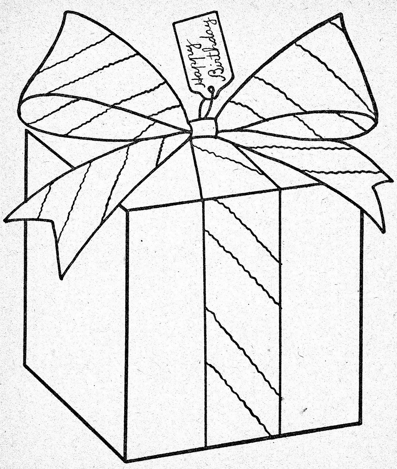 Let S Color Easy Gift Box Vintage Coloring Books Coloring Pages
