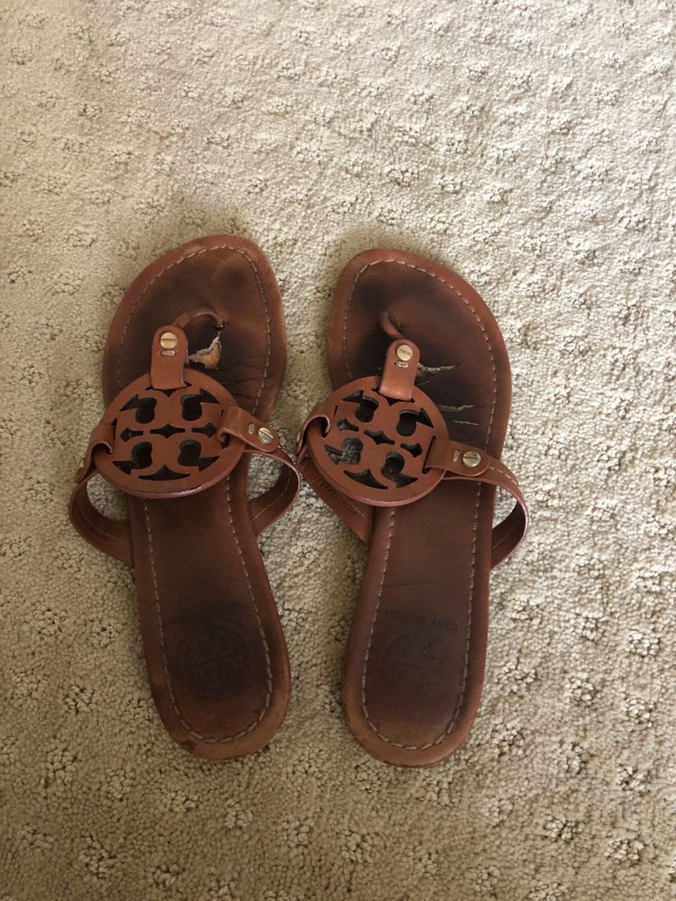 b4a30f0648d7 Tory Burch Miller Sandal Vintage Vachetta - size 6.5  fashion  clothing   shoes  accessories  womensshoes  sandals (ebay link)