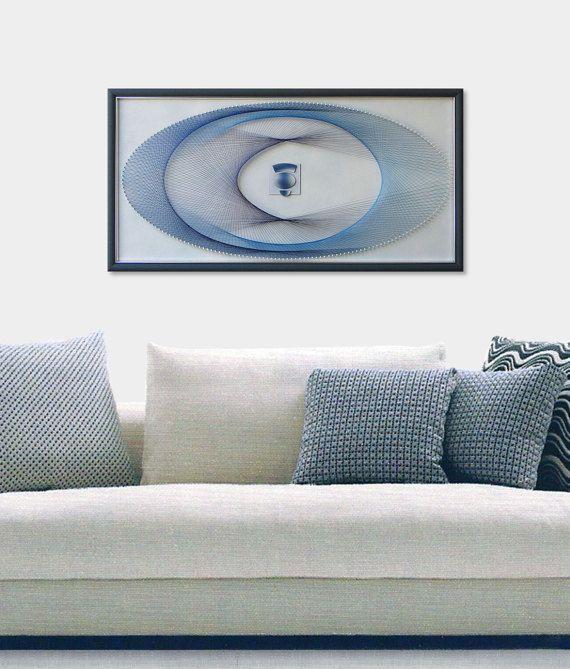 String Art - 3D Framed Zen Art- Abstract Wall Art - Sacred Geometry ...