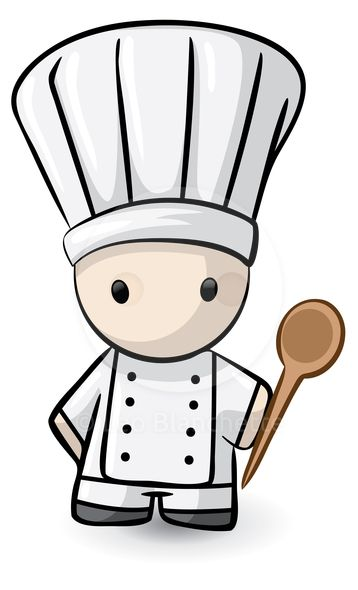 A Small Chef Holding Spoon And Ready To Cook