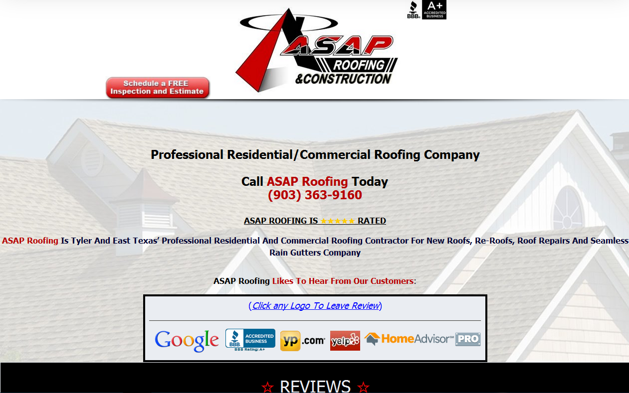 Tyler East Texas Https Tylerroofingasap Com Reviews Asap