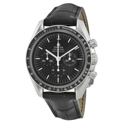 Omega Speedmaster Chronograph Black Dial Black Leather Mens Watch 31133423001001 (W-311-33-42-30-01-001)