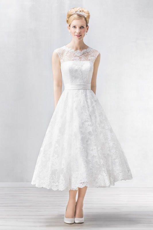 Emmerling Tea Length Wedding Dress 15072
